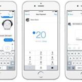Man starter samtalen i Messenger, klikker på dollarikonet, indtaster pengebeløbet og sender så pengene til modtageren, som så også skal have lagt sine kreditkortoplysninger ind i applikationen for at kunne modtage dem. Foto: Facebook