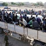 Efter at kampe om Sabratha på Libyens kyst er ovre, hævder sejrherren, at migranter er fundet i fangelejre. REUTERS/Hani Amara