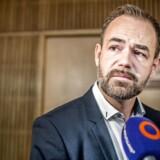 Borgmester Jacob Bundsgaard holder pressemøde om Letbanen.