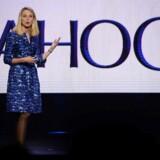 Yahoos topchef siden 2012, Marissa Mayer, står til at blive skrevet ud af selskabet, hvis telegiganten Verizon køber det trængte internetselskab. Arkivfoto: Robyn Beck, AFP/Scanpix