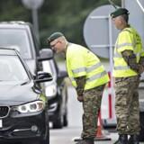 ARKIVFOTO Grænsekontrol ved Kruså. Den 14. juni 2016.
