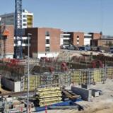 Arkivfoto: Byggeriet af Det Nye Universitetshospital, DNU, i Skejby ved Aarhus er danmarkshistoriens største hospitalsbyggeri.