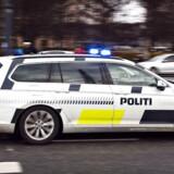 Politibil udrykning på Toftegaards Plads i Valby.