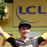 Primoz Roglic leverede en toppræstation, da han vandt 17. etape i Tour de France. Reuters/Christian Hartmann