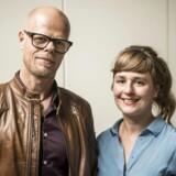 Stine Hulvej (th.) har sammen med Anne Dvinge stiftet musikbooking-platformen Low-Fi. Hun præsenterede idéen for Berlingske Business Boosts ekspertpanel sammen med Karsten Kjems.