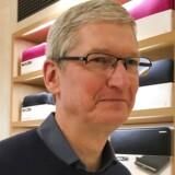 Apples topchef, Tim Cook, var torsdag til »privat møde« med EUs konkurrencekommissær, Margrethe Vestager, forud for afgørelsen i den store skattesag. Arkivfoto: Carlo Allegri, Reuters/Scanpix