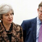 Storbritanniens Prime Minister Theresa May og Secretary of State for Business Greg Clark.