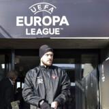 FC Midtjylland trænede onsdag formiddag på Arena Herning før torsdagens Europa League kamp mod Manchester United. Her er det FCMs Kristian Bach Bak.