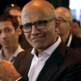 Microsoft-topchef Satya Nadella fortsætter med at udvide territoriet for sin software og går nu ind i Linux-verdenen med Microsofts databasesoftware SQL Server. Arkivfoto: Baz Ratner, Reuters/Scanpix