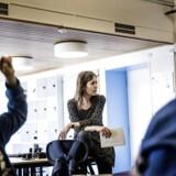 5. klasse på Rungsted skole bliver undervist af deres lærer Susanne.