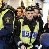 Arkivfoto 2016 af Grænsekontrol på tog i Sverige.