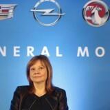 Den amerikanske bilproducent General Motors fordoblede sin indtjening i årets første kvartal med et stærkt salg i Nordamerika og Kina. (REUTERS/Rebecca Cook TPX IMAGES OF THE DAY)