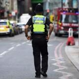Londons politi reagerede hurtigt lørdag aften.