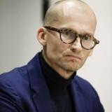 Christian Stadil holder pressemøde om sagen om bortvisningen af direktør Søren Schriver. Foto: Jens Astrup/Scanpix