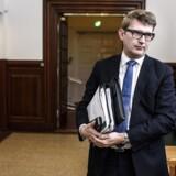 Erhvervs- og vækstminister Troels Lund Poulsen i samråd på Christiansborg d. 16. december 2015 om udflytning af statslige arbejdspladser til provinsen. (Foto: Niels Ahlmann Olesen/Scanpix 2015)