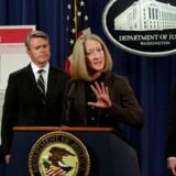 De amerikanske myndigheder fremlagde onsdag aften, dansk tid, anklagerne mod blandt andre to russiske efterretningsagenter i forbindelse med kæmpeangrebet mod internetgiganten Yahoo. Foto: Yuri Gripas, Reuters/Scanpix