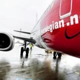 ARKIVFOTO 2010 af fly fra Norwegian i Københavns Lufthavn.