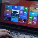 Windows 8 bliver nu sendt på pension hos Microsoft, der ikke længere vil opdatere systemet. Man skal derfor skifte til enten Windows 8.1 eller den nye Windows 10 for at undgå sikkerhedsproblemer. Arkivfoto: Rainer Jensen, EPA/Scanpix