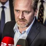 Udenrigsminister Anders Samuelsen (LA) orienterer pressen på Christiansborg i København efter statsminister Lars Løkke Rasmussens pressemøde i spejlsalen, tirsdag den 9. januar 2018.. (Foto: Mads Claus Rasmussen/Scanpix 2018)