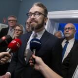 Trafikminister Ole Birk Olesen måtte i ugen forsvare regeringens nye taxilov, som ikke er LA-politik. Foto: Scanpix