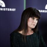 Innovationsminister Sophie Løhde holder pressebriefing i Finansministeriet om overenskomstforhandlingerne på statens område onsdag den 7. marts 2018