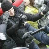 Venezuelas præsident hylder de demonstranter, der protesterer for et bedre klima i Københavns gader.