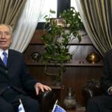 George Mitchell og Israels præsident Shimon Peres