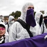 Klimaaktivister i demonstration ved 'Shut It Down'-aktionen ved Amagerværket i september.