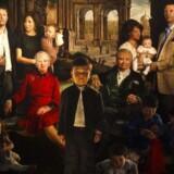 Maleren Thomas Kluge afslørede forleden sit store familieportræt af den kongelige familie på Amalienborg. Foto: Niels Ahlmann Olesen