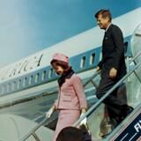 Ankomst til Love Field, Dallas, den 22. november 1963, mindre end en time før skudattentatet.