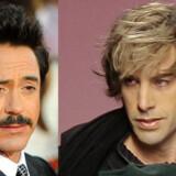 Robert Downey Jr. (tv) og Sacha Baron Cohen (th) skal spille Sherlock Holmes på film.