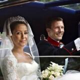 Bryllupsbugattien var vist den eneste, der ikke overholdt rygeforbuddet ved Joachim og Maries bryllup.