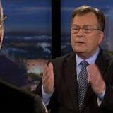 Ole Sohn (tv) og Claus Hjort Frederiksen (th) under mandagens ophidsede tv-debat.
