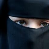 Niqaben (billedet) og burkaen, der har et lille net for øjnene, skal forbydes i det offentlige rum, mener Naser Khader (K)
