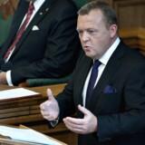 Statsminister Lars Løkke Rasmussen holder sin åbningstale.