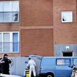 Det var i en lejlighed på Glasvej i Nordvestkvarteret, politiet anholdt en taxachauffør under mistanke for terrorplanlægning og under ransagning fandt ustabilt sprængstof. <br>Foto: Linda Henriksen