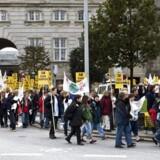 Sosu'er demonstrerer for velfærd i forbindelse med Folketingets åbning. Arkivfoto: Jens Nørgaard Larsen