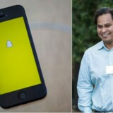 Imran Khan, strategidirektør for billedtjenesten Snapchat, siger nu stop. Arkivfotos: Eric Thayer, AFP/Scanpix, og Drew Angerer/Getty Images/AFP/Scanpix