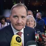 Socialdemokraternas partileder Stefan Löfven kan meget vel miste statsministerposten efter valget. (Foto: 10040 Anders Wiklund/TT/Ritzau Scanpix)