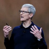 Tim Cook, som ses på billedet, overtog jobbet som topchef i Apple i 2011.