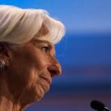 IMF's franske chef Christine Lagarde advarer mod, at en handelskrig vil sætte nye økonomier under stort pres. (Arkivfoto: ANDREW CABALLERO-REYNOLDS / AFP / Ritzau Scanpix)