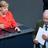 Kold stemning mellem kansler Merkel og formanden for AfD, Alexander Gauland, da Forbundsdagen onsdag diskuterede Chemnitz.