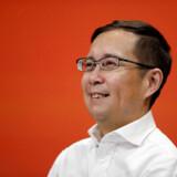 46-årige Daniel Zhang, der næste år bliver øverskommanderende i Alibaba, har længe været en af de bærende kræfter i den kinesiske netgigant, der med en børsværdi på over 420 milliarder dollar er Asiens største virksomhed. »Jack Ma er en mand med mange idéer. Han er meget, meget kreativ,« har han sagt om selskabets grundlægger. »Men jeg er den, der altid gerne vil have den ene fod på jorden.« Arkivfoto: Benoit Tessier/Reuters/Ritzau Scanpix