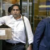 Medarbejdere forlader investeringsbanken Lehman Brothers på Manhattan. Marcus Knuth var en af de mange, der arbejdede i Lehman Brothers op til finanskrisen. Foto: David Goldman/Ritzau Scanpix