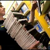 40 procent af omsætningen på film hos Blockbuster på Trianglen er på DVD-film.