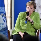 Kansler Merkel under besøg i Georgien torsdag, hvor hun også udtalte sig om den europæiske stoleleg.