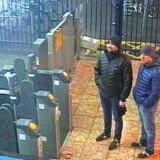 De to agenter fra den militære russiske efterretningstjeneste, GRU. De brugte dæknavnene Alexander Petrov og Ruslan Bosjirov. De var »mere Johnny English end James Bond«, siger den britiske sikkerhedsminister.