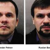 »Der er tilstrækkeligt med bevismateriale til at rejse anklage mod Aleksandr Petrov og Ruslan Boshirov for angrebet i Salisbury,« siger Scotland Yard om to russiske statsborgere. Handout/Reuters