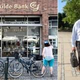 ARKIVFOTO af Niels Valentin, tidl. adm. direktør i Roskilde Bank (tv.). ( Jens Nørgaard Larsen / Niels Ahlmann Olesen / Ritzau Scanpix)