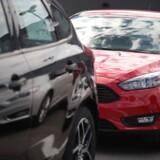 ARKIVFOTO af en række Ford Focus-modeller. AFP PHOTO / GETTY IMAGES NORTH AMERICA / SCOTT OLSON / Ritzau Scanpix